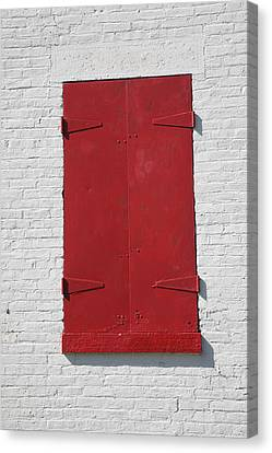 Red Window Canvas Print by Frank Romeo
