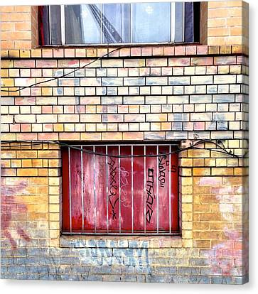 Red Window Canvas Print by Julie Gebhardt