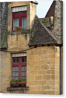 Canvas Print featuring the photograph Red Windows by Paul Topp