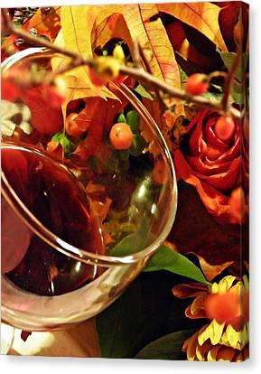 Red Wine 2 Canvas Print by Sarah Loft