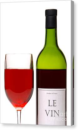 Labelled Canvas Print - Red Wine And Bottle by Olivier Le Queinec