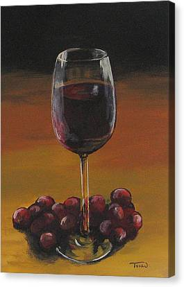 Red Wine And Red Grapes Canvas Print by Torrie Smiley