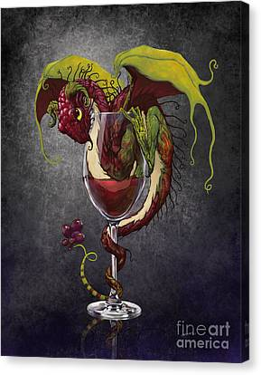 Glass Canvas Print - Red Wine Dragon by Stanley Morrison