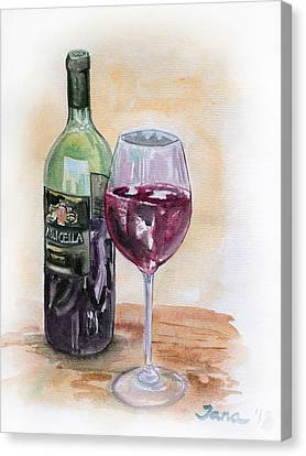 Red Wine Canvas Print by Jana Goode