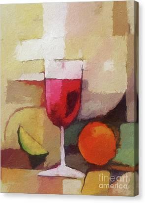 Red Wine Canvas Print by Lutz Baar