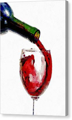 Red Wine Pouring Canvas Print by Georgi Dimitrov
