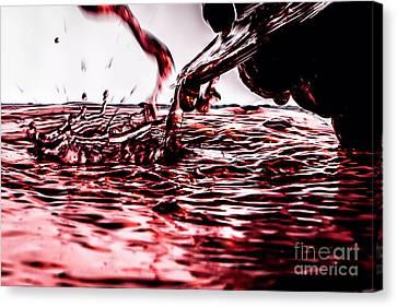 Red Wine River Splash Canvas Print