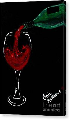 Red Wine Toast Canvas Print by Gail Matthews