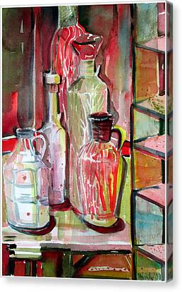 Red Wine Vinegar Canvas Print by Mindy Newman