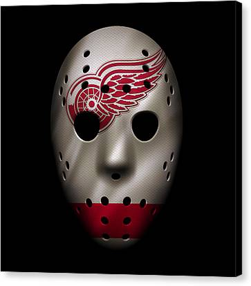Red Wings Jersey Mask Canvas Print by Joe Hamilton