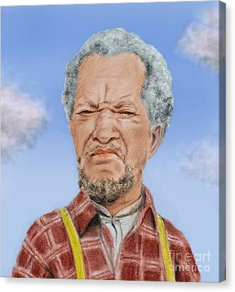 Redd Foxx As Fred Sanford Canvas Print by Jim Fitzpatrick
