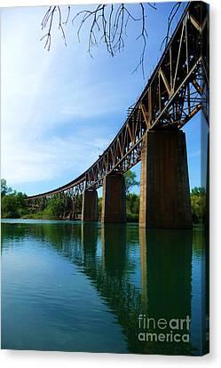 Redding Train Bridge 4 Canvas Print by Joshua Greeson