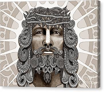 Redeemer - Modern Jesus Iconography - Copyrighted Canvas Print