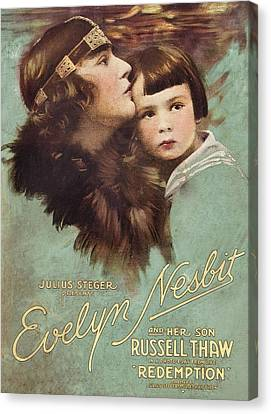 Redemption, L-r Evelyn Nesbit, Russell Canvas Print