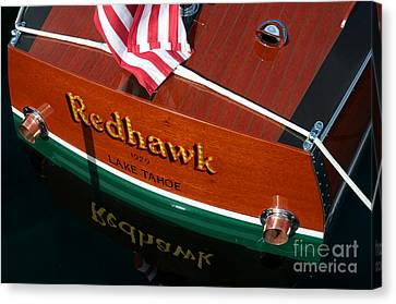 Canvas Print featuring the photograph Redhawk by Vinnie Oakes