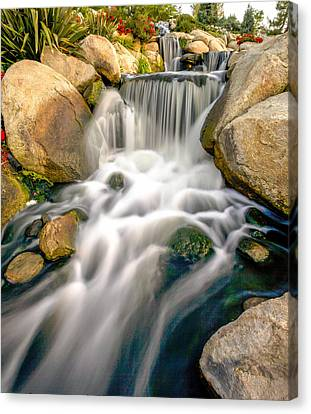 Canvas Print featuring the photograph Redhawk Waterfall by Robert  Aycock