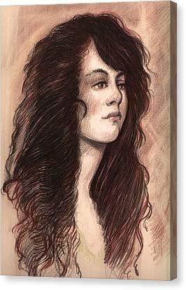 Ghost Story Canvas Print - Redhead Girl by Michael Mynatt