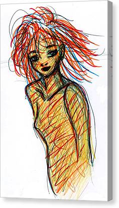 Redhead I Canvas Print by Rachel Scott