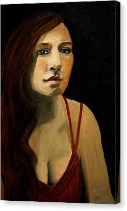 Redhead In Reflection Canvas Print