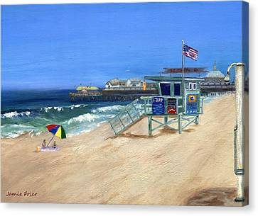Redondo Beach Lifeguard  Canvas Print by Jamie Frier