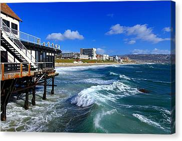 Canvas Print featuring the photograph Redondo Pier - Mike Hope by Michael Hope