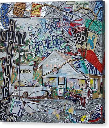 Reds Giant Hamburg Route 66 Type Canvas Print by Phil Jackson