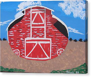 Redwood Farm Barn Canvas Print