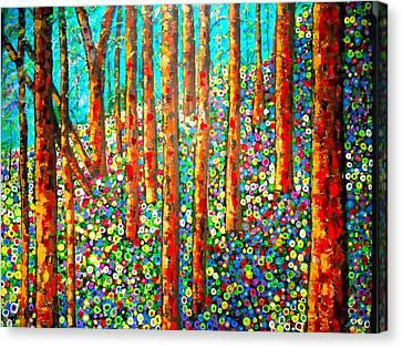 Redwood Hillside Canvas Print
