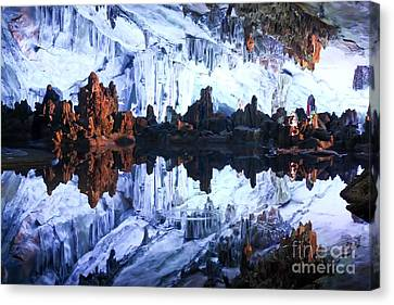 Cavern Canvas Print - Reed Flute Cave Guillin China by Thomas Marchessault