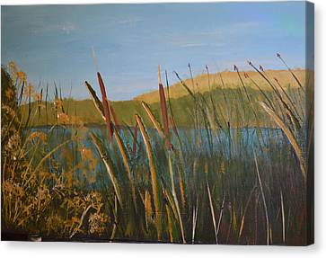 Reeds Canvas Print by Zilpa Van der Gragt