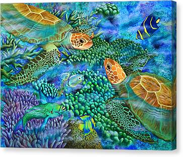 Reef Encounter Canvas Print by Carolyn Steele