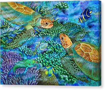 Reef Encounter Canvas Print