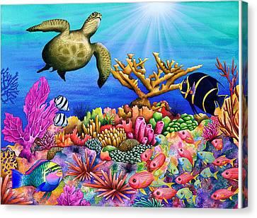 Reef Revelers Canvas Print by Carolyn Steele