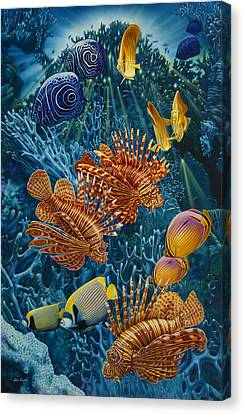 Reef Two Canvas Print by Larry Taugher