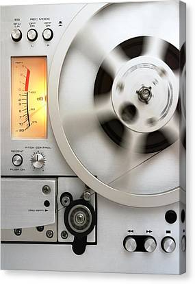 Reel To Reel Canvas Print by Jim Hughes
