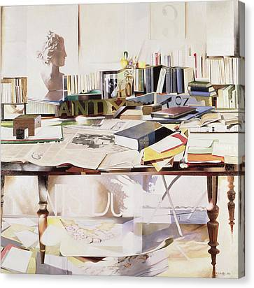 Reference, 1991 Oil On Canvas Canvas Print by Jeremy Annett