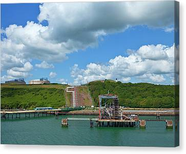 Refinary Pipeline In Milford Haven Canvas Print by Panoramic Images