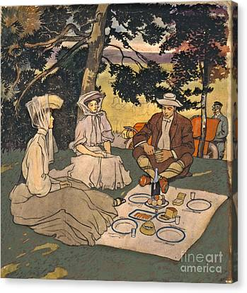 Refined Picnic 1904 Canvas Print by Padre Art