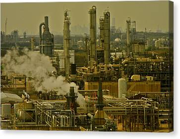 Refineries In Houston Texas Canvas Print by Kirsten Giving