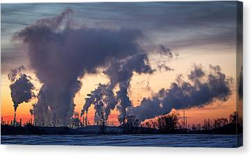 Canvas Print featuring the photograph Flint Hills Resources Pine Bend Refinery by Patti Deters