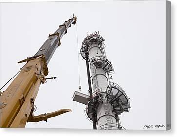 Refinery Canvas Print by Chris Martin