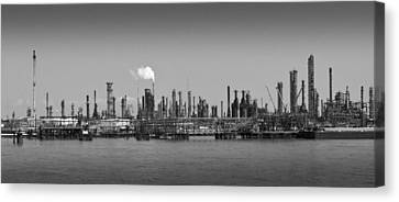 Canvas Print featuring the photograph Refinery Might by Ricky L Jones