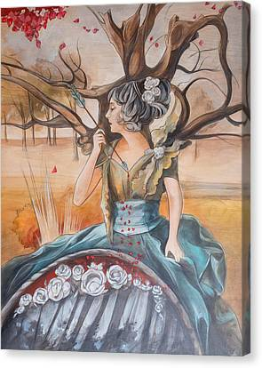 Reflctive Pool Canvas Print by Jacque Hudson
