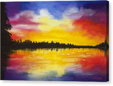 Reflect Canvas Print by Dana Strotheide