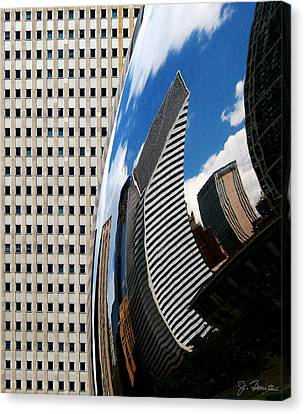 Reflected City Canvas Print by Joe Bonita