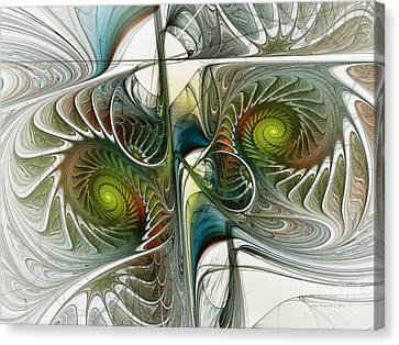 Reflected Spirals Fractal Art Canvas Print