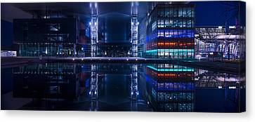 Reflecting Arts And Culture Canvas Print by Michael Walker