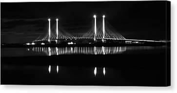Reflecting Bridge Canvas Print