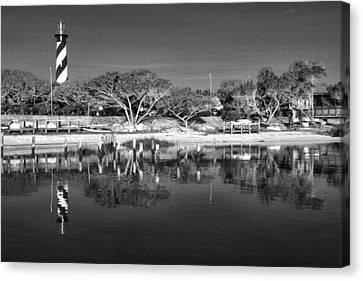 Reflecting Lighthouse  Canvas Print by Alice Gipson