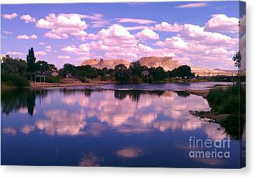Canvas Print featuring the photograph Reflecting On Green River by Chris Tarpening